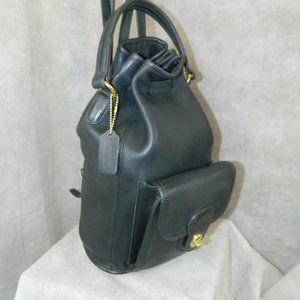 Coach VINTAGE 'Handle Backpack Bag #9992 Black VGC